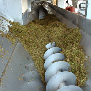 Stalks and Pomace Discharge